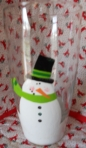 Tiffany's Snowman Glass 1