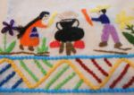 Handmade dish towel from Mexico