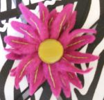 Flower A from the pattern with Grandma Leona's button