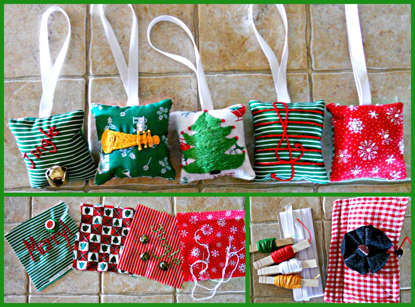 Christmas Mini Pillow Ornaments Pillows A La Mode