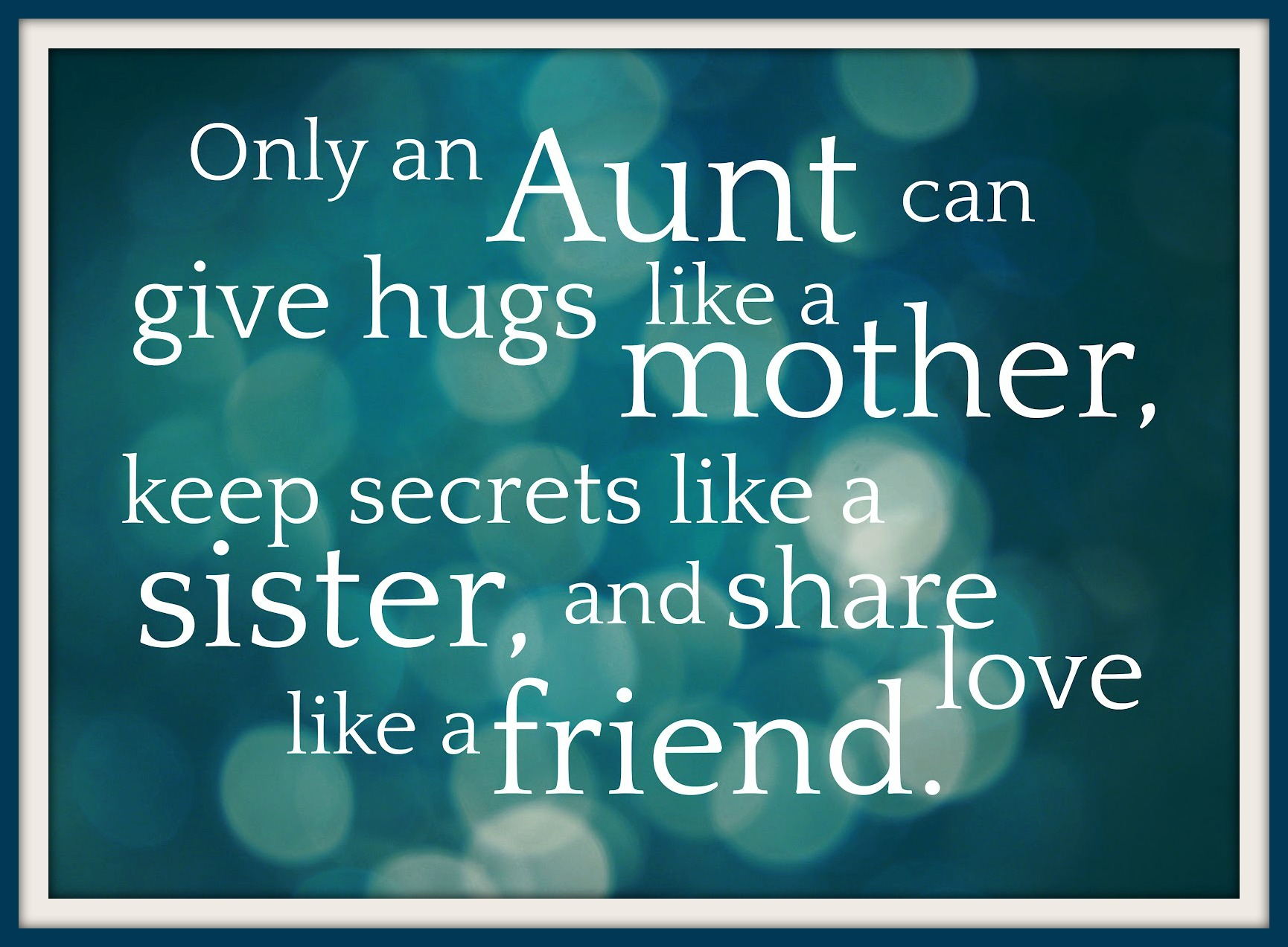 To All the Aunties in the World . . . | PILLOWS A-LA-MODE
