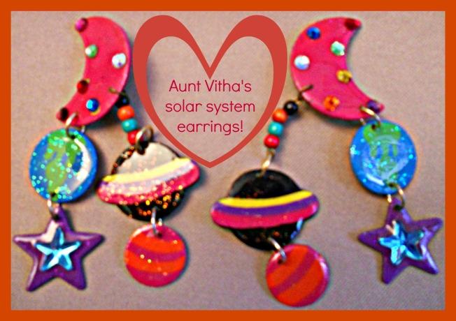 Solar System Earrings