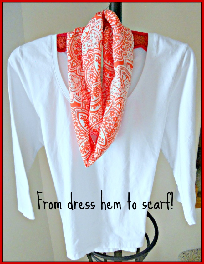 From dress hem to scarf